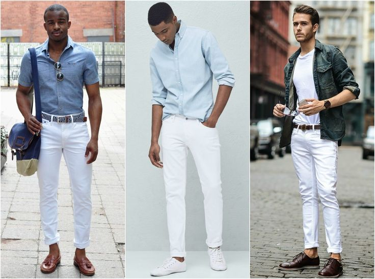 how to wear white jeans for men