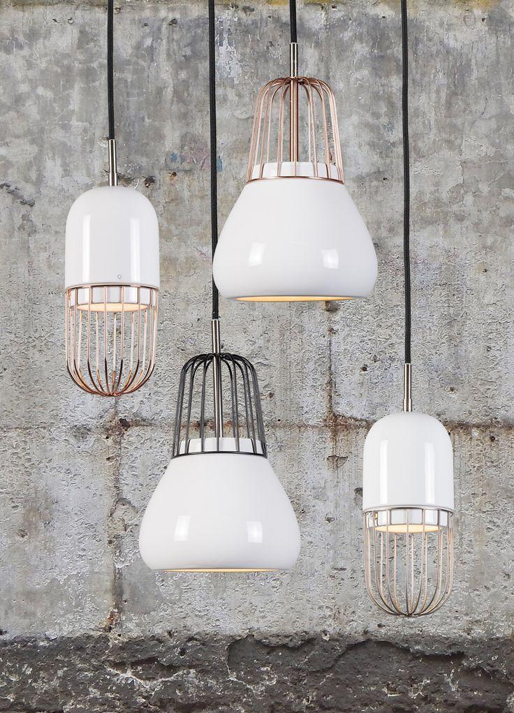 Nieuw binnen, hanglamp Porcelana. Een tikkeltje retro en helemaal hip! Verkrijgbaar in koper, zwart en staal! #lampenlicht #qazqa #hanglampen