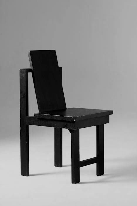 Gregori Warchavchik; Lacquered Wood Chair, 1928.