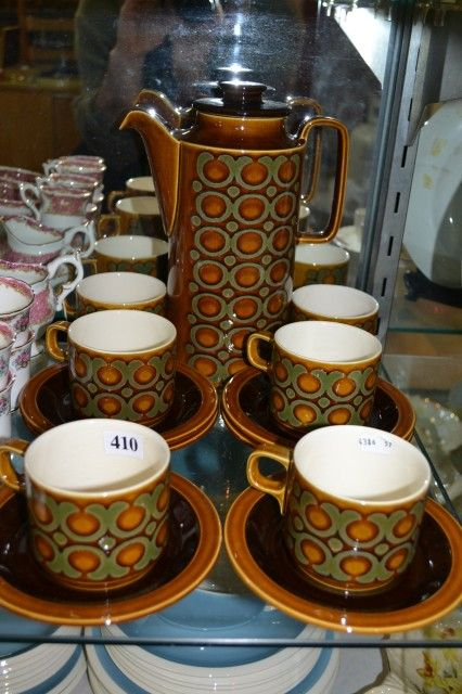 1970's Bronte Pattern Coffee Set. Would Have Coat an Arm and a Leg Back Then!! Don't See Coffee Pots Like This Any More..its all Cafetieres Now,
