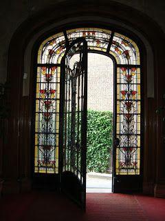 Intérieur, rez-de-chaussée de Hôtel Bouctot-Vagniez, architecte Louis Duthoit, 1909-1911, 36 rue des Otages, Amiens (Somme) art nouveau