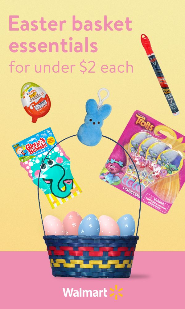 76 best easter images on pinterest build your own easter baskets for less with basket stuffers for less than 2 from walmart discover everything from fun and unique baskets to candy and negle Images