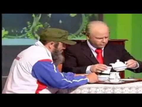 """""""El Rey y Fidel"""" en la pensión de Chona con Juanito Panchin en el programa """"En Clave De Ja""""."""