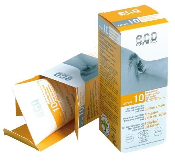 Crema bio cu factor pentru protectie redusa Crema de plaja rezistenta la apa, ce ofera o protectie delicata. Contine pigmenti minerali care reflecta razele soarelui, ca niste mici oglinzi, avand actiune completa impotriva razelor UVA/ UVB/ UVC !  http://www.sabedoria.ro/protectie-solara-bio/1422-crema-bio-protectie-solara-fps10-75-ml-eco-cosmetics.html#