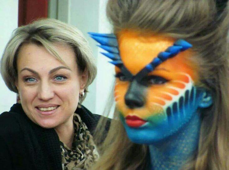 Работа Натальи Яворской Профессиональная школа грима Аллы Чури #обучение #makeup #makeupartist #makeuphair #грим #макияж #визаж #гримнахеллуин #спецэффекты #спецгрим