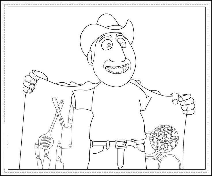 Dibujos para Colorear. Dibujos para Pintar. Dibujos para imprimir y colorear online. Tadeo Jones 6