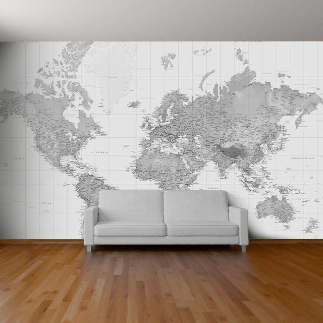 Non Traditional Wall Décor Ideas To Make A Bold Statement: 1000+ Ideas About World Map Wallpaper On Pinterest
