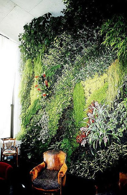I don't know if this would ever happen...but this is plant wall  is awesome