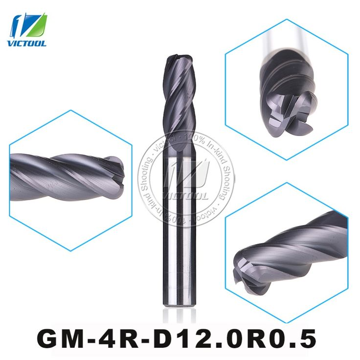 GM-4R-D12.0R0.5 Cemented Solid Carbide End Mills 4-Flute R End Mill Straight Shank Milling Cutter Metal Drill Bits Cutting Tools #Affiliate