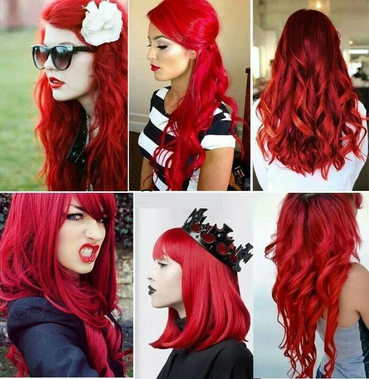 Hairchalk Flaming Bloody Red Hair Color Hair Pinterest