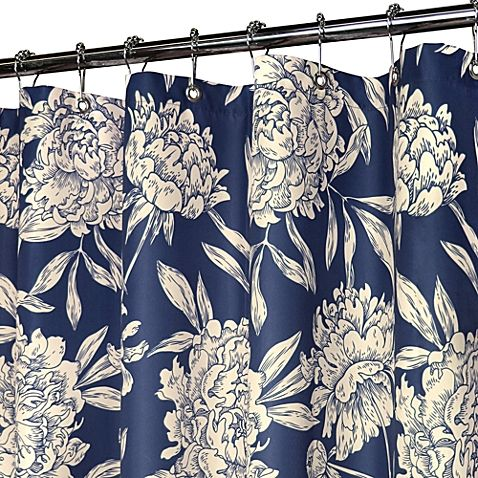 Park B Smith 39 S Toile Like Floral Patterned Fabric Shower