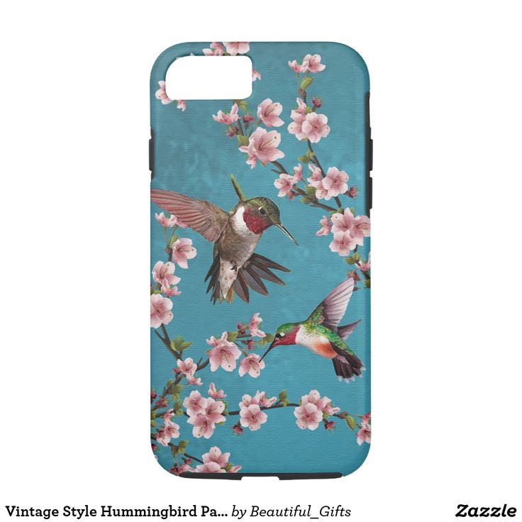 Vintage Style Hummingbird Painting iPhone 7 Case