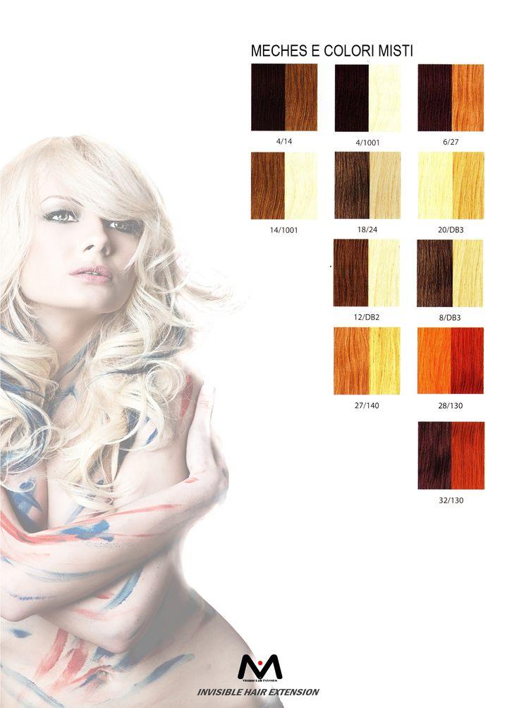 Ecco la gamma di colori misti utilizzati per le meches da #viemmehairextension. Per qualsiasi informazione sul prodotto visitate il sito www.viemmehairextension.com #hair #extension #fashionstyle
