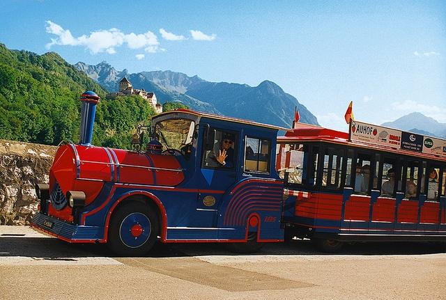 Citytrain in Vaduz, Liechtenstein