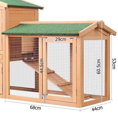 Double Rabbit Hutch Guinea Pig House Run Large | Buy Top 100 of 2016