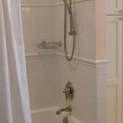 Chair rail in shower   Kitchen and Bath   Pinterest