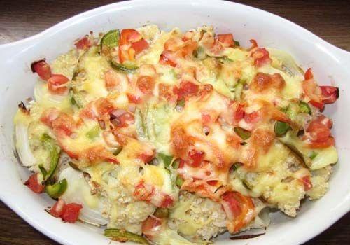 Кольорова капуста в духовці - покрокові фото приготування  #запеканка #гарнир #ужин #кулинария #рецепты #кухня #вкусно
