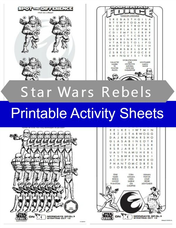 Star Wars Rebels Activity Sheets. Fun word searches, counting and matching games for kids http://quirkyinspired.com/star-wars-rebels-premiere/