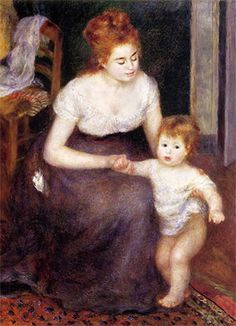 The First Step by Pierre-Auguste Renoir