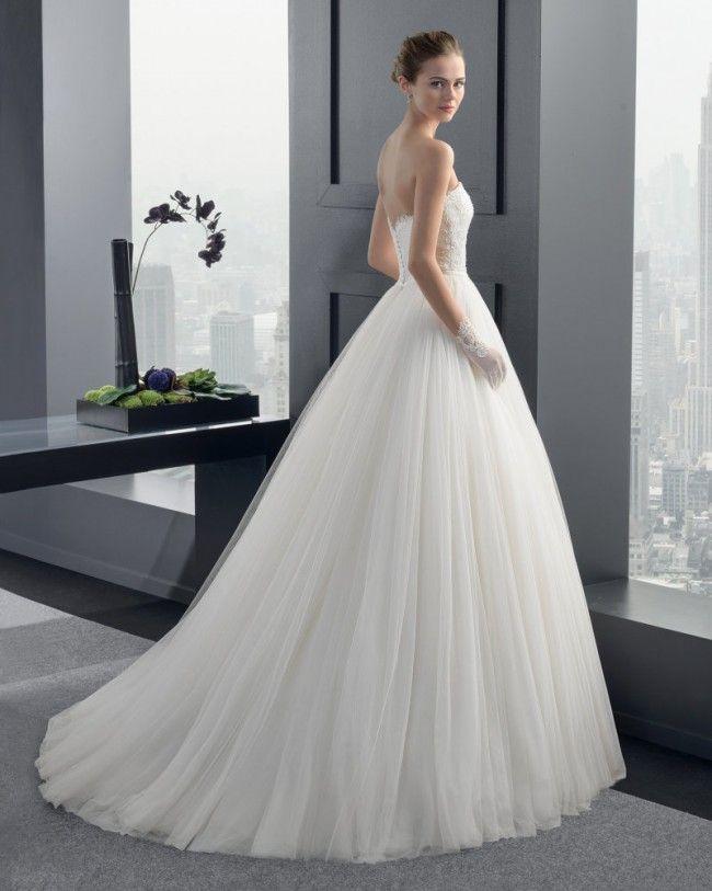 クラシック ビスチェ チャーチ A ライン ブライダルドレス ウェディングドレス Hro0118