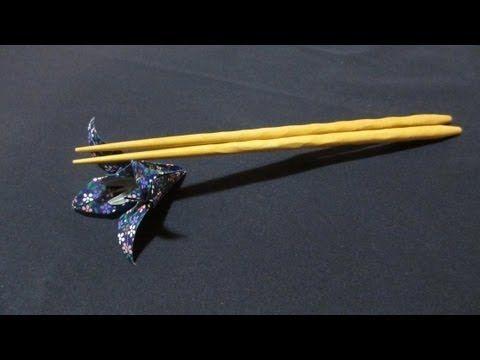 折り紙で作る箸置き~5月あやめ~[Japanese ORIGAMI] Iris - YouTube