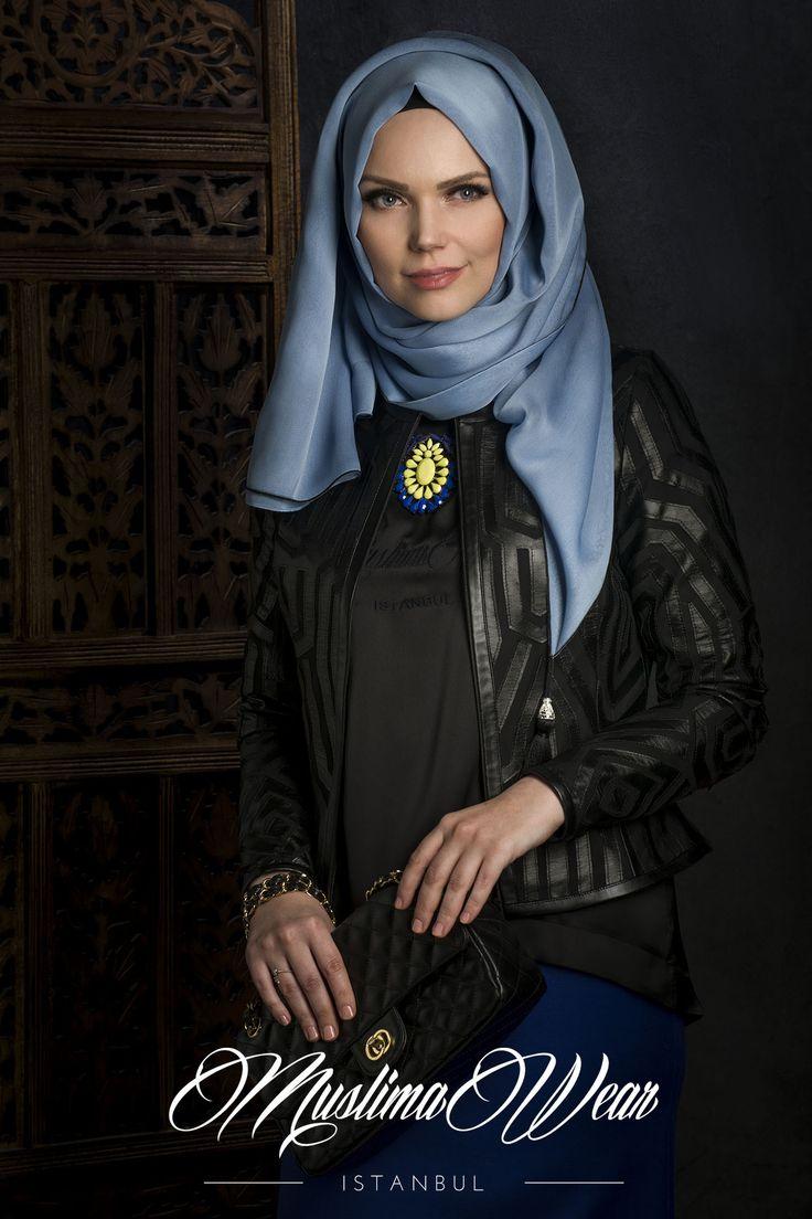 Muslima Wear Mosaic Jacket black color