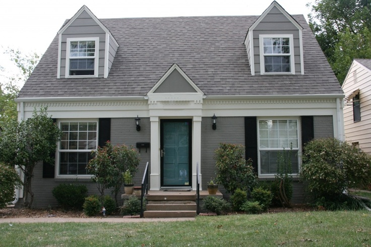 Popular Painted brick SW Dovetail trim SW Alabaster Lovely - Popular repaint house Photo