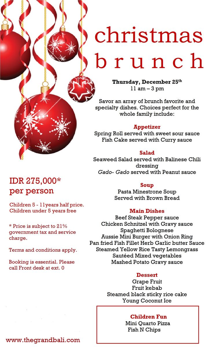 Enjoy the Xmas day with the brunch at The Grand Bali Nusa Dua