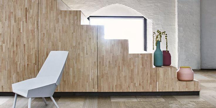Tekstiililaatat: Interface Walk The Plank, värit Beech ja Maple │ Laattapiste