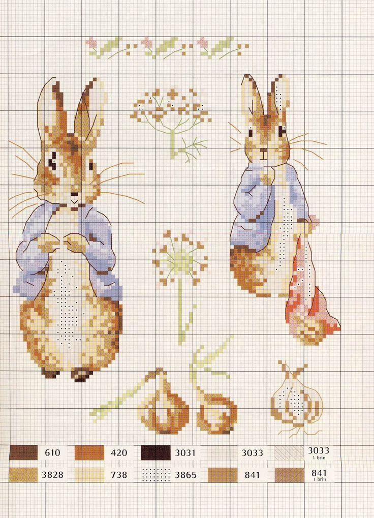 Beatrix potter вышивка схема
