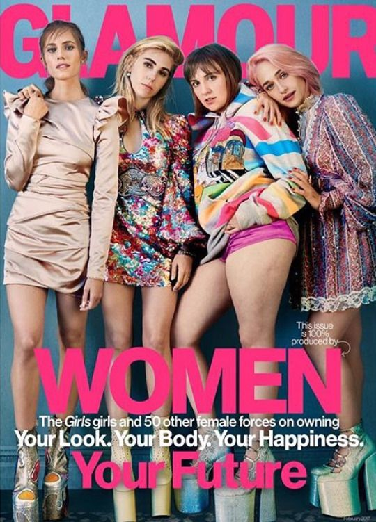 The cast of GIRLS for Glamour USA