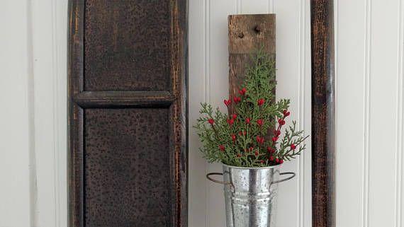 Farmhouse Christmas Wall Decor Rustic Metal