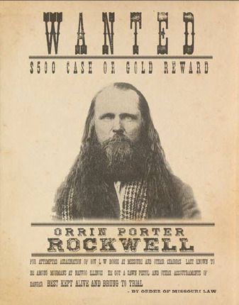 Zions Mercantile Porter Rockwell Wanted Poster (11x14 Print) (Print), $14.45