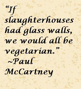 Paul McCartney Quote About Being Vegetarian