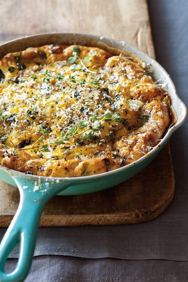 Mushroom, Goat Cheese and Herb Frittata | Williams-Sonoma Taste