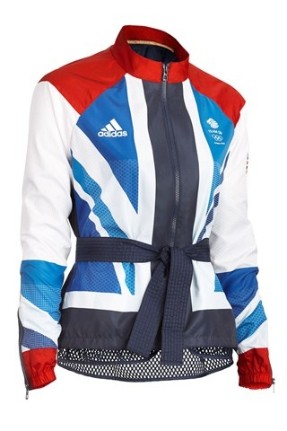 The women's presentation jacket from the Team GB London 2012 kit, designed by Stella McCartney