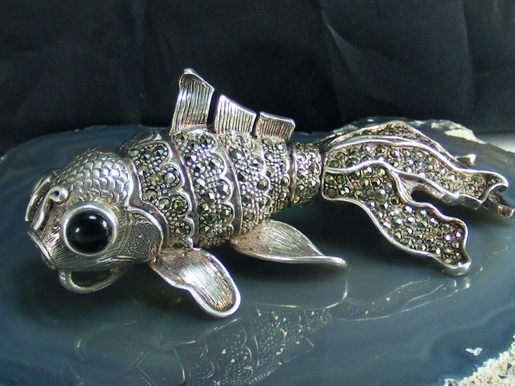 3498 best jewellery images on pinterest jewerly for Silver koi fish