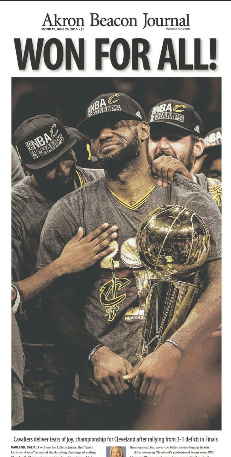 LeBron James delivers the Cleveland Cavalier's their 1st ever NBA Championship, and the city of Cleveland it's first Championship in 52 years. (June 21, 2016)