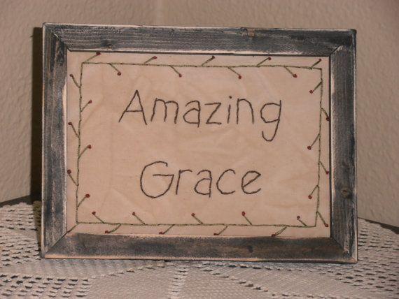 Primitive Stitchery Amazing Grace Handmade by PureCountryStitchery