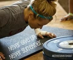 Never surrender...