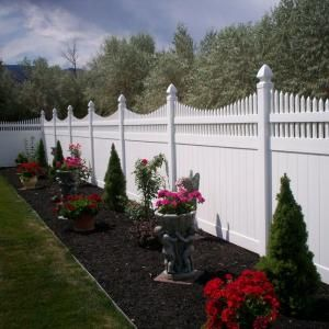 Weatherables Harrington 6 ft. H x 8 ft. W White Vinyl Privacy Fence Panel PWPR-OTS-6X8 at The Home Depot - Mobile