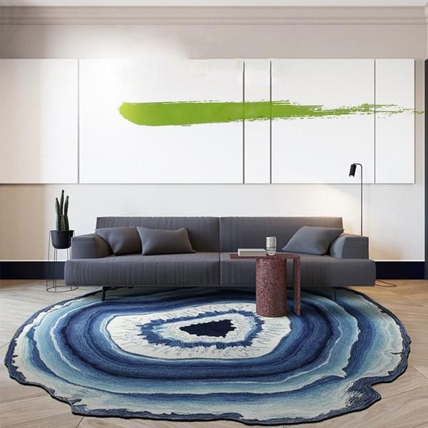 Blue Agate Round Area Rug Round Carpet Living Room Rugs On Carpet Buying Carpet