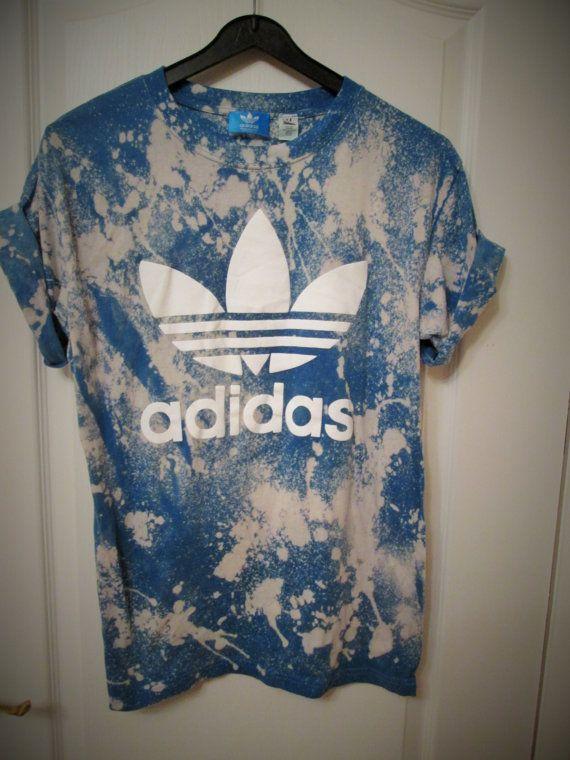 Vintage acid wash tie dye adidas originals retro rave by MyTyeDie