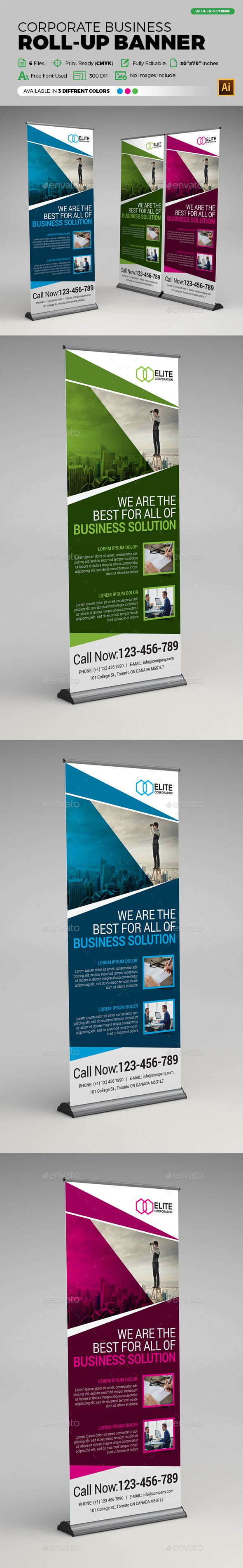 Corporate Business Roll-up Banner Template Vector EPS, AI #design Download: http://graphicriver.net/item/corporate-business-rollup-banner/14279735?ref=ksioks