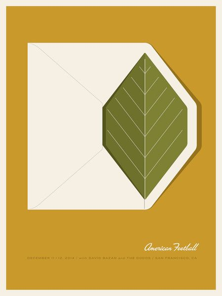 American Football Gig Poster by Jason Munn / The Small Stakes
