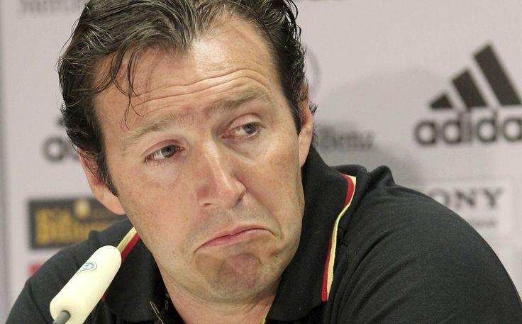 Marc Wilmots, director técnico de la Selección fútbol de #Bélgica. Foto: EFE.
