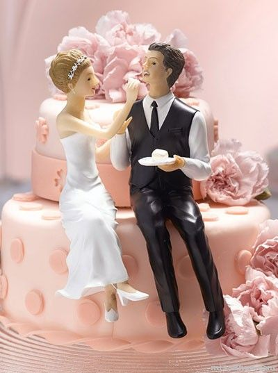 bride and groom cake toppers Funny wedding cake topper