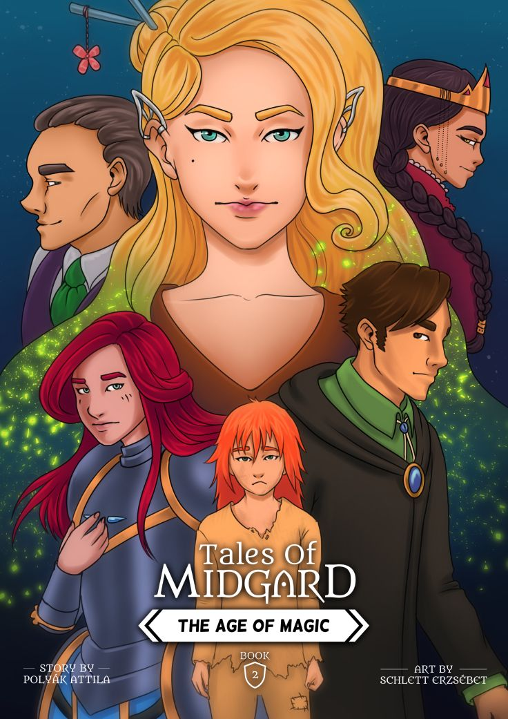 This is the coverpage of the second book of the webcomic Tales of Midgard: The Age of Magic