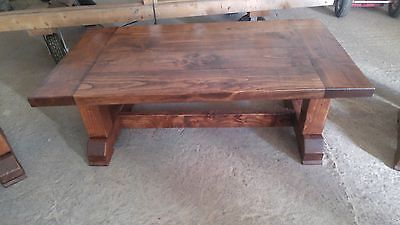 Restoration Hardware Style Coffee Table Farmhouse Indoor/Outdoor Solid Wood
