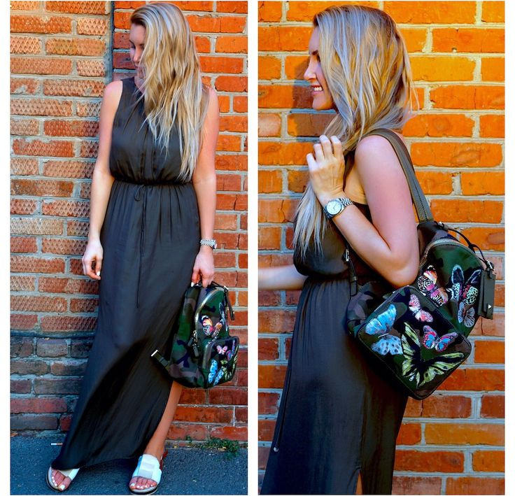 Как носить летнее платье в пол? Lond dress #valentino #backpack #valentinobackpack